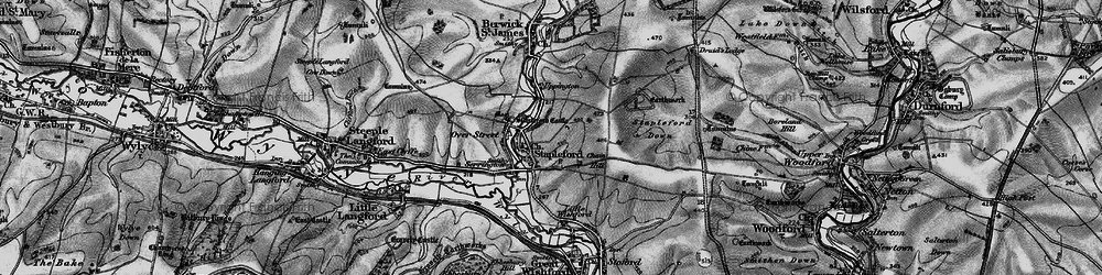 Old map of Stapleford in 1898