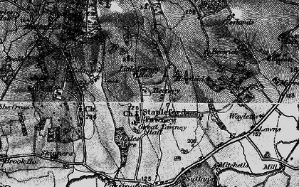 Old map of Stapleford Tawney in 1896