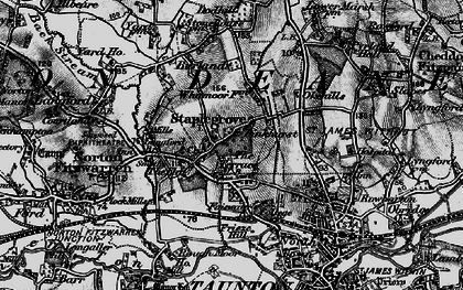 Old map of Staplegrove in 1898