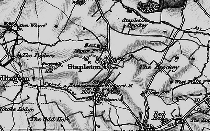 Old map of Abraham's Br in 1899