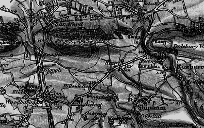 Old map of Wimblestone in 1898