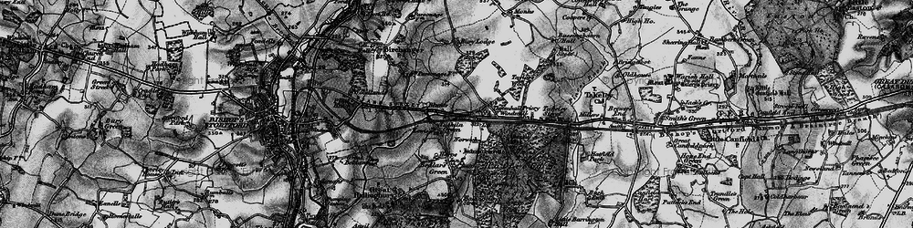 Old map of Start Hill in 1896