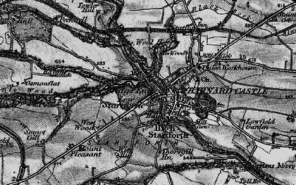 Old map of Startforth in 1897