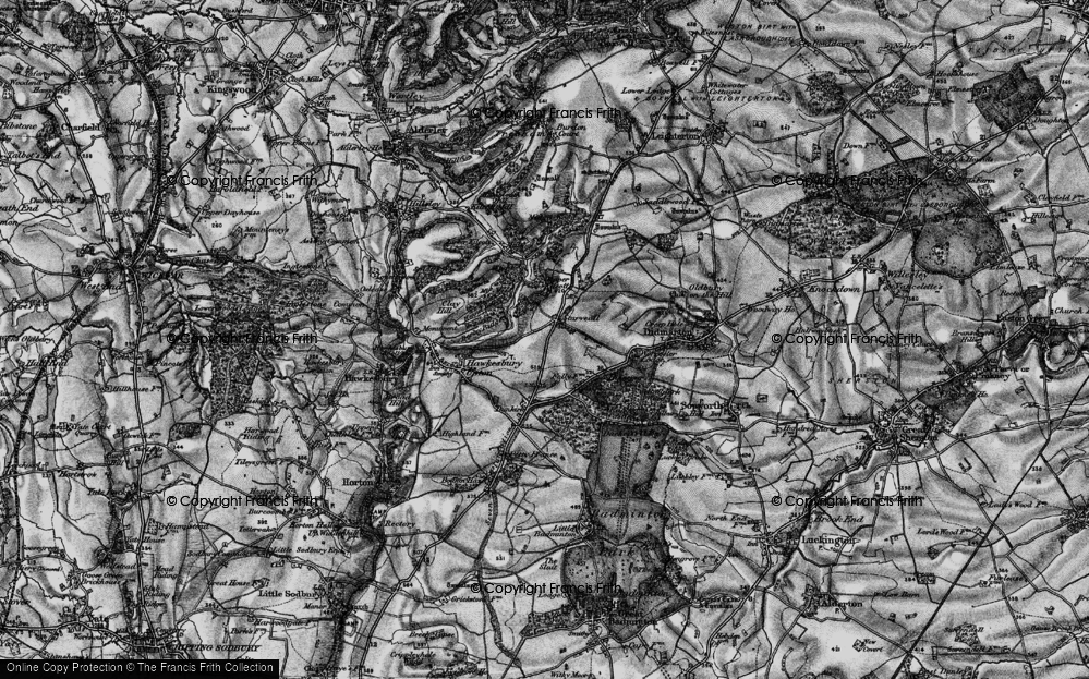 Old Map of Historic Map covering Bangel Wood in 1897