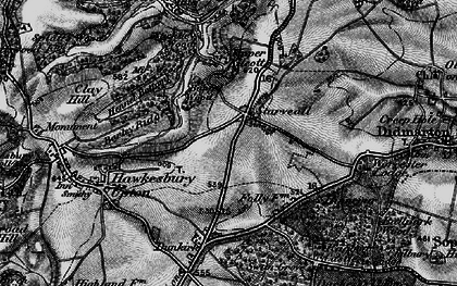 Old map of Bangel Wood in 1897