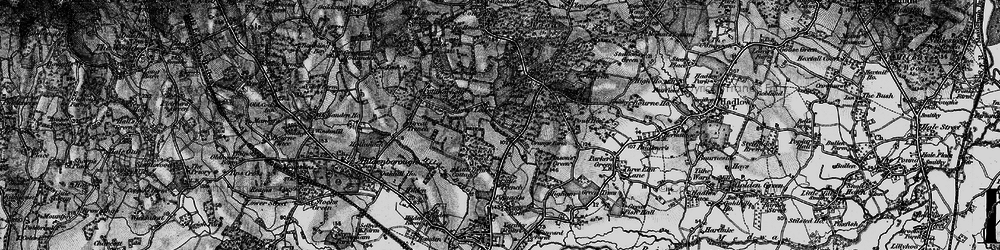 Old map of Yews, The in 1895