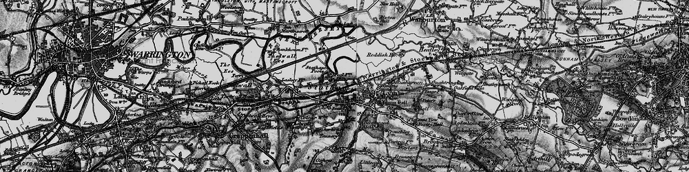 Old map of Statham in 1896