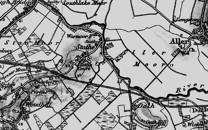 Old map of Aller Moor in 1898