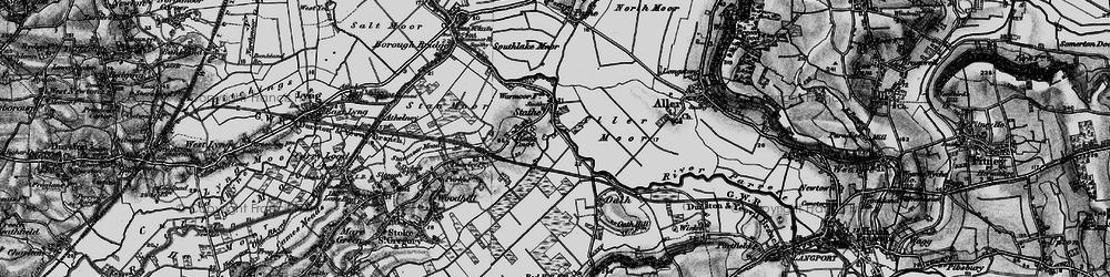 Old map of Aller Moor in 1898
