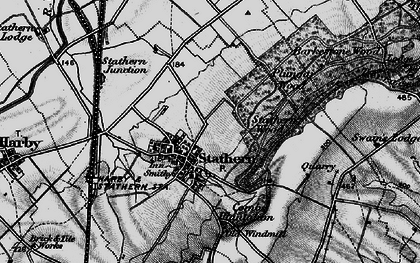 Old map of Barkestone Wood in 1899