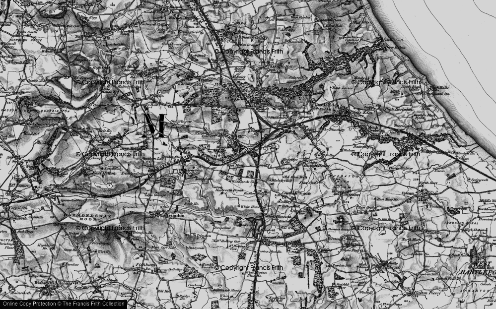 Old Map of Historic Map covering Woodlands Close in 1898