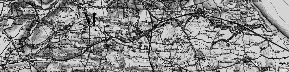 Old map of Woodlands Close in 1898