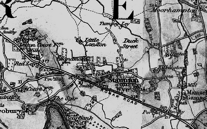 Old map of World's End in 1898