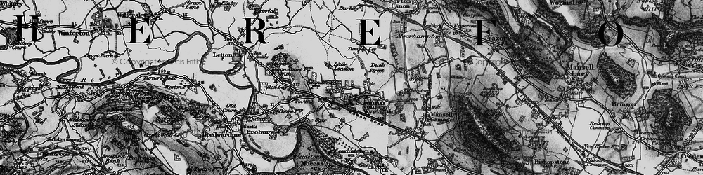 Old map of Tin Hill in 1898