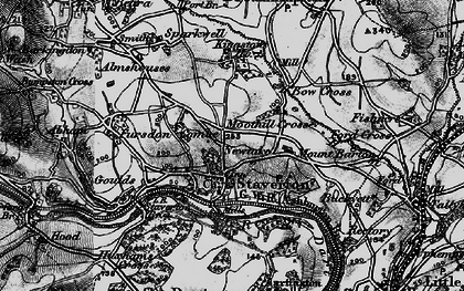 Old map of Staverton in 1898