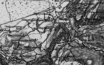 Old map of Ynysycapel in 1899