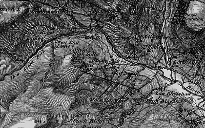 Old map of Backstean Gill in 1897