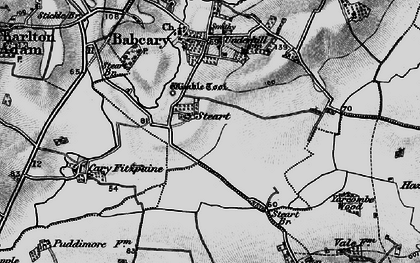 Old map of Wimble Toot in 1898