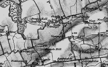 Old map of Steeple in 1895