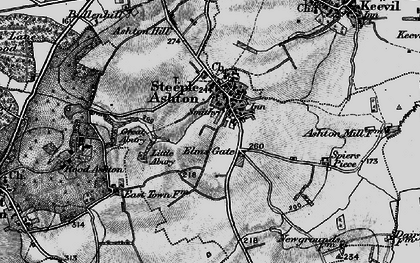 Old map of Steeple Ashton in 1898