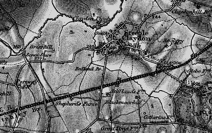 Old map of Steeple Claydon in 1896