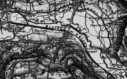 Old map of Airedale in 1898