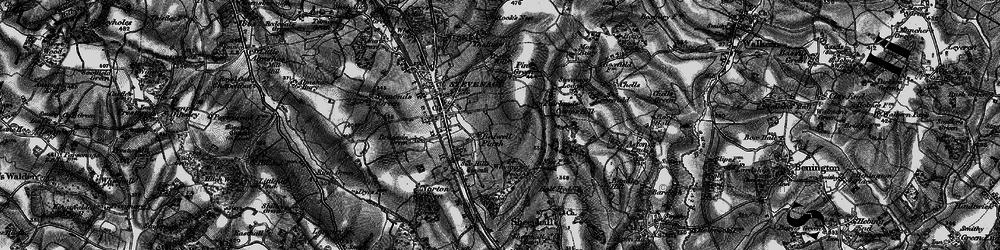 Old map of Stevenage in 1896