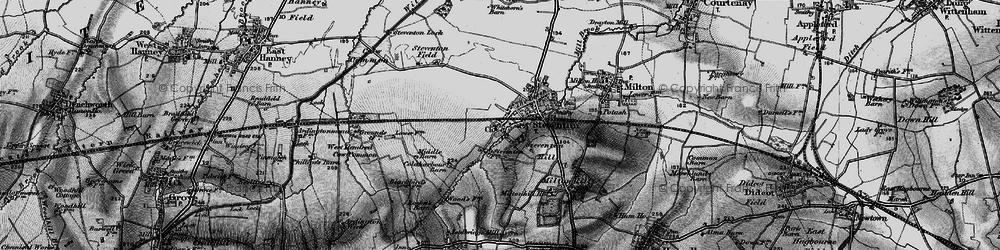 Old map of Steventon in 1895
