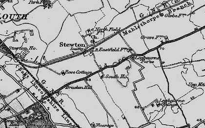 Old map of Legbourne Furze in 1899