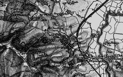 Old map of Wiston Barn in 1895