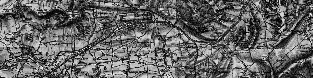 Old map of Stibb Green in 1898