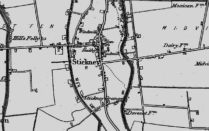 Old map of Whyte Acre in 1899