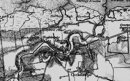 Old map of West Sand in 1899