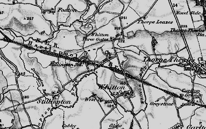 Old map of Whitton Three Gates in 1898