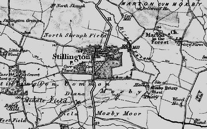 Old map of Stillington in 1898