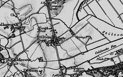 Old map of Stilton in 1898