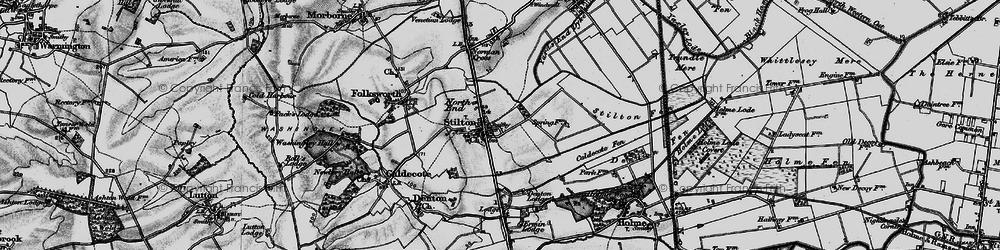 Old map of Stilton in 1898