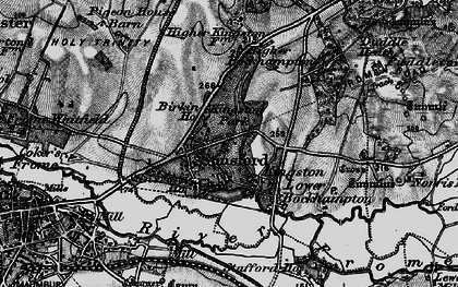 Old map of Stinsford in 1897