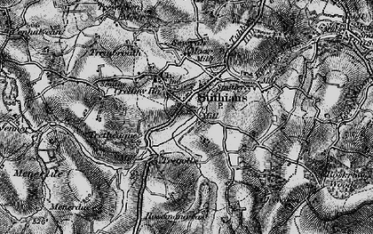 Old map of Stithians in 1895