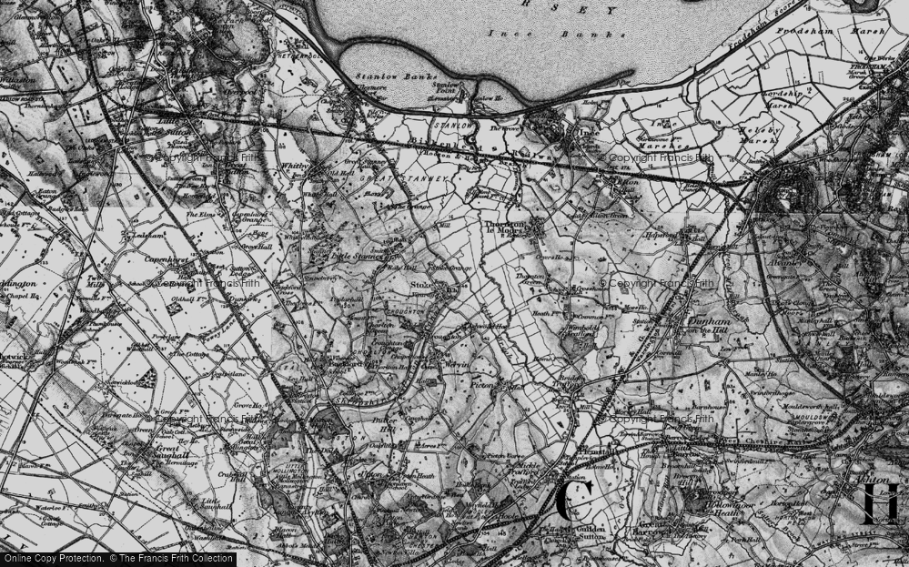 Old Map of Historic Map covering Ashwood Ho in 1896