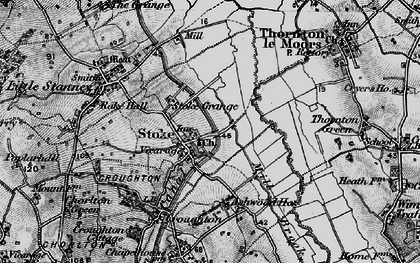 Old map of Ashwood Ho in 1896