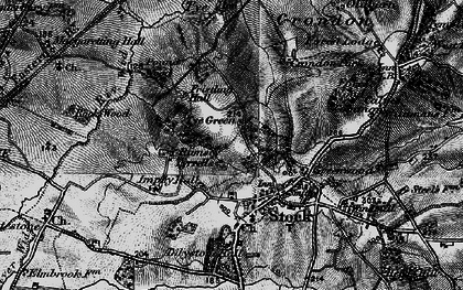 Old map of Lilystone Hall in 1896