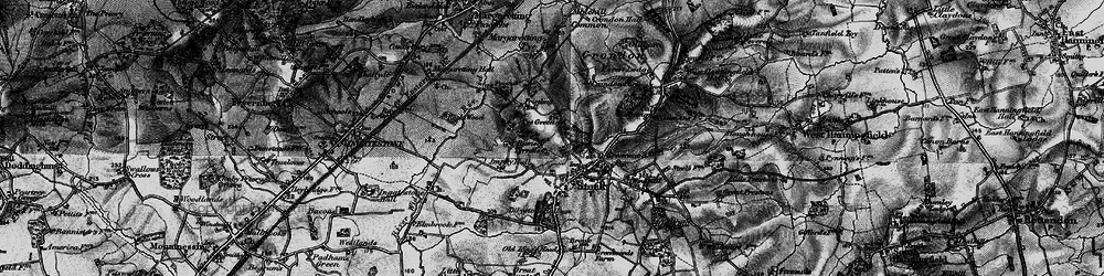 Old map of Stock in 1896
