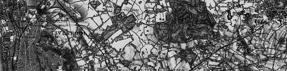Old map of Stockbridge Village in 1896