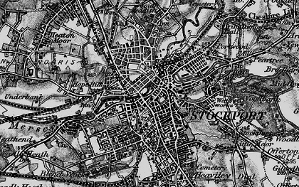 Old map of Stockport in 1896
