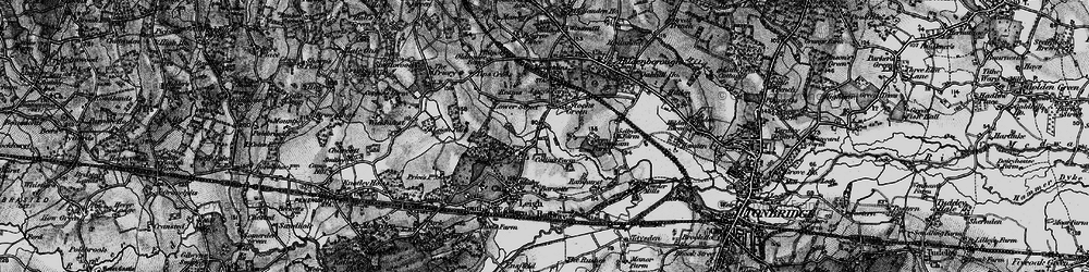 Old map of Tips Cross in 1895