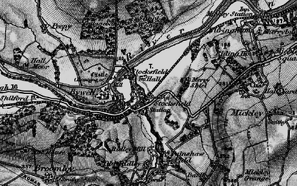 Old map of Stocksfield in 1898