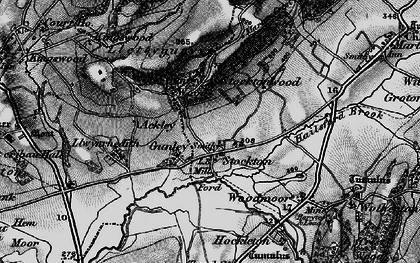 Old map of Aylesford Brook in 1899