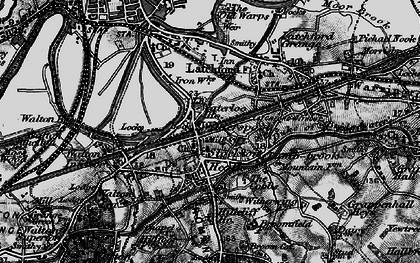 Old map of Stockton Heath in 1896