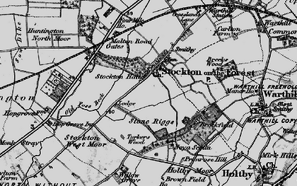 Old map of Old Foss Beck in 1898